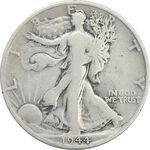 سکه نیم دلار 1944S نماد آزادی - VF25 - آمریکا