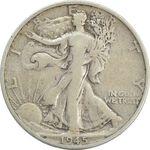 سکه نیم دلار 1945S نماد آزادی - VF30 - آمریکا
