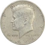 سکه نیم دلار 1964D کندی - VF35 - آمریکا
