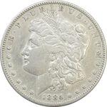 سکه یک دلار 1884 مورگان - EF40 - آمریکا