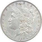 سکه یک دلار 1886 مورگان - EF45 - آمریکا