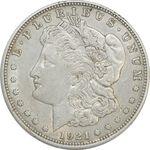 سکه یک دلار 1921D مورگان - EF45 - آمریکا