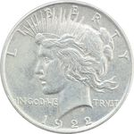سکه یک دلار 1922 صلح - EF40 - آمریکا