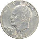 سکه یک دلار 1972D آیزنهاور - AU58 - آمریکا
