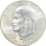 سکه نقره یک دلار 1976 جشن دویست سالگی آمریکا - MS64 - آمریکا