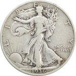 سکه نیم دلار 1936 نماد آزادی - VF25 - آمریکا