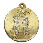 مدال آویز ورزشی طلا بسکتبال مازندران - EF - محمد رضا شاه
