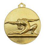 مدال آویز ورزشی طلا ژیمناستیک دختران - UNC - محمد رضا شاه