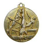 مدال آویز ورزشی طلا ژیمناستیک دختران - AU - محمد رضا شاه