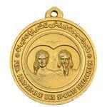مدال آویز ورزشی طلا شطرنج ناشنوایان - UNC - محمد رضا شاه
