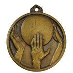 مدال آویز ورزشی برنز بسکتبال - MS62 - محمد رضا شاه