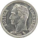 سکه 25 سنتیمو 1960 - MS64 - ونزوئلا