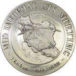مدال یادبود ساختمان مرکزی اداره کل هواپیمایی کشوری - AU50 - محمد رضا شاه