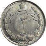 سکه 2 ریال 1323 - MS63 - محمد رضا شاه