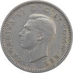 سکه 6 پنس 1947 جرج ششم - EF45 - انگلستان
