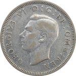 سکه 1 شیلینگ 1937 جرج ششم - تیپ 1 - AU55 - انگلستان