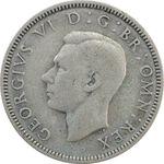 سکه 1 شیلینگ 1937 جرج ششم - تیپ 2 - VF35 - انگلستان