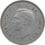 سکه 1 شیلینگ 1948 جرج ششم - تیپ 1 - EF40 - انگلستان