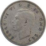 سکه 1 شیلینگ 1950 جرج ششم - تیپ 2 - VF35 - انگلستان