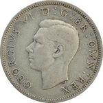 سکه 2 شیلینگ 1942 جرج ششم - VF35 - انگلستان