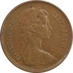 سکه 1/2 پنی 1976 الیزابت دوم - AU55 - انگلستان