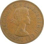 سکه 1 پنی 1961 الیزابت دوم - EF45 - انگلستان