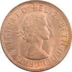 سکه 1 پنی 1962 الیزابت دوم - MS62 - انگلستان