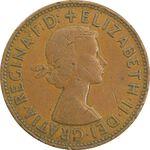 سکه 1 پنی 1962 الیزابت دوم - VF30 - انگلستان