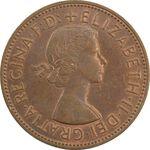 سکه 1 پنی 1963 الیزابت دوم - AU58 - انگلستان