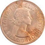 سکه 1 پنی 1964 الیزابت دوم - MS62 - انگلستان