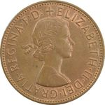 سکه 1 پنی 1964 الیزابت دوم - AU55 - انگلستان