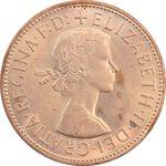 سکه 1 پنی 1965 الیزابت دوم - MS63 - انگلستان
