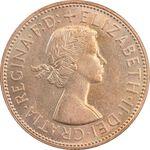 سکه 1 پنی 1965 الیزابت دوم - MS62 - انگلستان