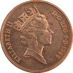 سکه 2 پنس 1988 الیزابت دوم - MS62 - انگلستان