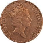 سکه 2 پنس 1989 الیزابت دوم - AU58 - انگلستان