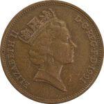 سکه 2 پنس 1991 الیزابت دوم - EF40 - انگلستان