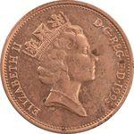 سکه 2 پنس 1993 الیزابت دوم - AU50 - انگلستان