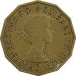 سکه 3 پنس 1960 الیزابت دوم - EF45 - انگلستان