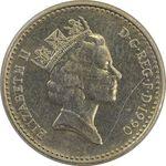 سکه 5 پنس 1990 الیزابت دوم - AU58 - انگلستان