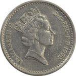 سکه 5 پنس 1992 الیزابت دوم - AU55 - انگلستان
