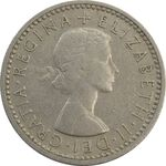 سکه 6 پنس 1959 الیزابت دوم - EF45 - انگلستان