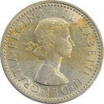 سکه 6 پنس 1962 الیزابت دوم - MS62 - انگلستان