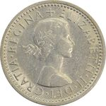 سکه 6 پنس 1963 الیزابت دوم - AU58 - انگلستان