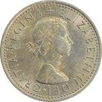 سکه 6 پنس 1967 الیزابت دوم - MS62 - انگلستان