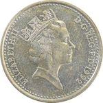 سکه 10 پنس 1992 الیزابت دوم - AU53 - انگلستان