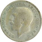 سکه 6 پنس 1924 جرج پنجم - VG - انگلستان