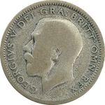 سکه 6 پنس 1925 جرج پنجم - VF20 - انگلستان