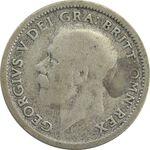 سکه 6 پنس 1926 جرج پنجم - VF20 - انگلستان