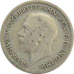 سکه 6 پنس 1930 جرج پنجم - VF35 - انگلستان