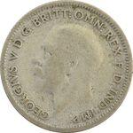 سکه 6 پنس 1930 جرج پنجم - VF25 - انگلستان